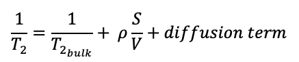 NMR formula governing T2
